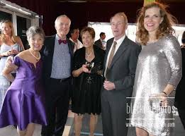 Trustee Diane Hill, left, Kevin Somerville, Joan and John Baldwin,  Development Director Christina Carlson