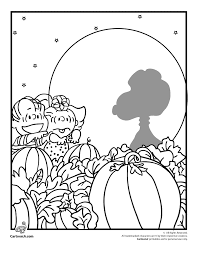 Small Picture Linus and Sally in the Pumpkin Patch Coloring Page Woo Jr Kids