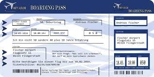 Oder geht es beruflich ins ausland? Feste Besondere Anlasse Einladungskarten Zum Geburtstag Als Boarding Pass Flugticket Einladung 30 40 50 Visastart Com