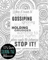 Small Picture LDS Quote Coloring Page