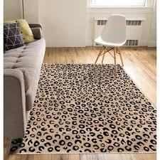 3 x 5 area rug black gold leopard animal modern area rug 3 x 5 area