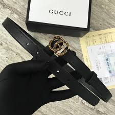 gucci leather belt with crystal double g buckle g22555 black