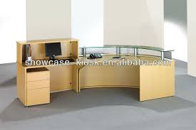 Office counter design for curved reception desk