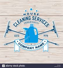Cleaning Company Badge Emblem Vector Illustration Concept