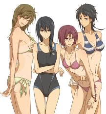 free iwatobi swim club genderbend. Exellent Genderbend Makoto Haru Rin Sousuke Genderbend Lol They All Have Tan Lines From The  School Swim Suits With Free Iwatobi Swim Club Genderbend H