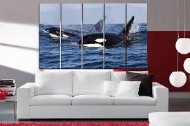 whales wall art whale