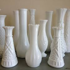 Vintage 12 milk glass vases / vintage wedding vases / milk glass / white  bud vases