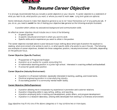 Writing The Objective Statement For Your Resume Ex Customer Service ...