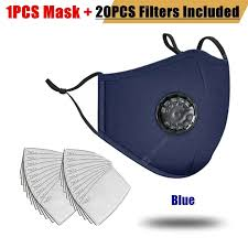 20pcs Filter <b>Fashion</b> Washable Reusable Mask Anti Pollution PM2.5 ...