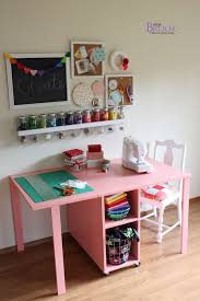 ana white the handbuilt home sewing table from beingbrook i also like this as a desk in a shared room idea for kids arts and crafts table