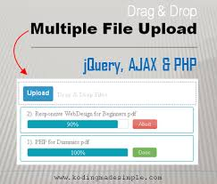 Drag And Drop Multiple File Upload Using Jquery Ajax And Php Cool