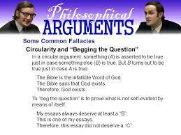 what is an argument what does monty python have to say a  13 circularity