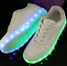 led sneakers deluxe rechargeable led light up sneakers white