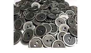 Britex Button Sizing Chart Amazon Com Nice 200 Metal Buttons Antique Silver Stripe