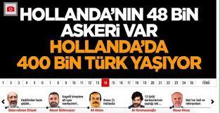 "Özlem Sara Cekic on Twitter: ""Den groteske overskrift fra en pro-Erdogan avis:  Holland har 48.000 soldater. I Holland bor der 400.000 tyrkere. #dkpol…  https://t.co/xbHcTmOY18"""