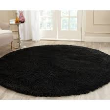 california shag black 4 ft x 4 ft round area rug california shag black 4 ft