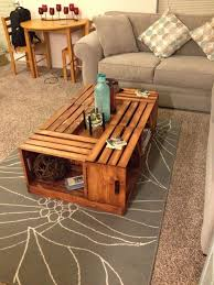 25 best ideas about wooden crate coffee table on