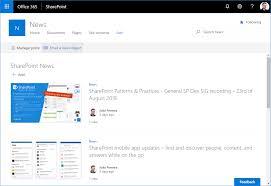 Sharepoint Website Examples Create Internal Newsletters Using Sharepoint News Hands On