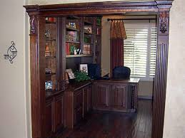 cherry officelibrary entry raised panel doors and drawers end panels barley cherry custom home office desk