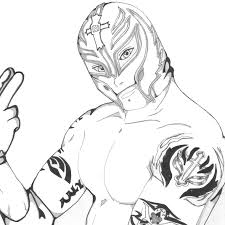 Free Rey Mysterio Draw Coloring Pages Rey Mysterio Mask Coloring