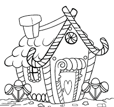 Blank Gingerbread House Coloring Pages Gingerbread Coloring Pages