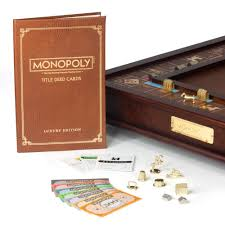 Wooden Monopoly Board Game Monopoly Wooden Luxury Edition 44