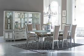 AICO Bel Air Park Crystal Dining Set Collection - Aico dining room set