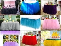 x tulle tutu table skirt for wedding party baby shower decor diy round table diy skirt tutu