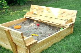 kids sandbox with cover kids sandbox with seats folding wood pallet bench that unfold to cover lid home improvement