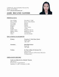 Example Of Simple Resume New Sample Of Simple Resume Resume Sample Luxury Resume Example Simple