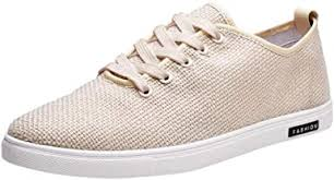YKARITIANNA Linen Canvas Shoes Vintage Men ... - Amazon.com
