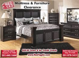 No Credit Check Bedroom Furniture Ashley Cavallino Black 4 Post Bedroom Set B291 Red Tag