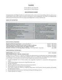 Registered Nursing Resume Nurse Resume