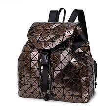 DIOMO Geometric <b>Lingge</b> Laser Women Backpack Travel Shoulder ...