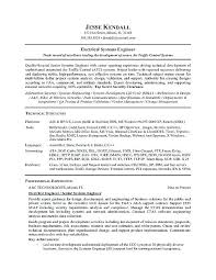 maintenance technician resume sample electrical engineer word format  engineering template perfect samples free