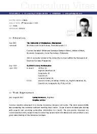 Ejemplo De Curriculum Vitae En Word Plantillas De Curriculum Vitae En Word 2010 Descargar