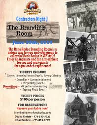 Reno Rodeo Seating Chart Contractors Night The Branding Room Reno Rodeo