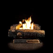 vent free natural gas fireplace logs with thermostatic control ovt22ng the home depot