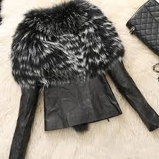 women s winter warm fur collar coat leather cotton jacket overcoat parka outwear