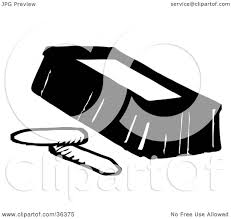 eraser clipart black and white. clipart illustration of a black and white eraser with two pieces chalk by loopyland -