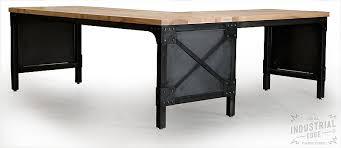 office metal desk. Ash Wood \u0026 Steel L Shaped Desk, Custom Industrial Metal Desk Office