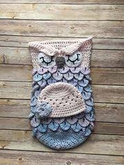 Free Owl Cocoon Crochet Pattern Enchanting Free Pdf Creative Crochet By Becky Crochet Baby Owl Cocoon With Hat