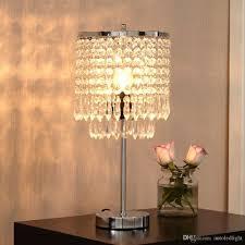 Großhandel Chrom Runde Kristall Kronleuchter Schlafzimmer Nachttisch Tischlampe Led Nachtlicht Nachttischlampen Für Hochzeit Wohnzimmer Esszimmer Von
