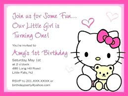 Free Online Invitation Maker Hello Kitty Birthday Invitation