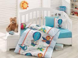 baby duvet cover set comforter included 5 pcs blue