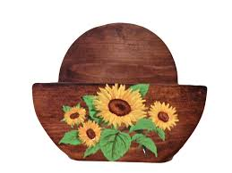 Sunflower Decor For Kitchen Details About Sunflowers Themed Paper Towel Roll Holder Country
