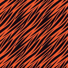 Tiger Pattern Custom Black And Orange Tiger Stripes Pattern Vinyl Printcess