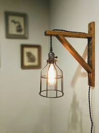 Wall Sconce Pendant Light Wall Lamp Wood Wall Sconce Rustic