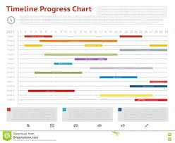 Vector Timeline Progress Graph Gantt Chart Of Project Stock