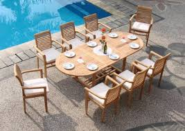 9 piece grade A teak dining set